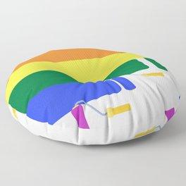 Pride Paint Flag Floor Pillow