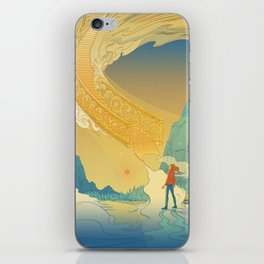 Golden Staircase iPhone Skin