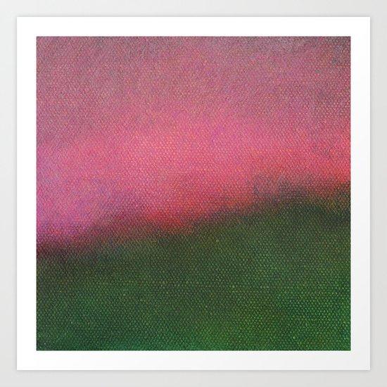 Pink Fantasy Sky Art Print