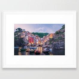 An Evening In Cinque Terre - Riomaggiore Framed Art Print