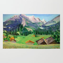 View from Haslital, Switzerland Rug