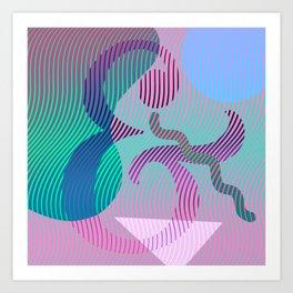 Moiré Ampersand Art Print