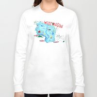 wisconsin Long Sleeve T-shirts featuring WISCONSIN by Christiane Engel
