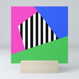 Bright Stripe Sectors Mini Art Print