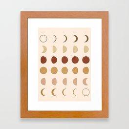 Flow of the Phases Framed Art Print