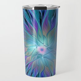 Decorative Flower Fractal Travel Mug
