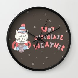 Hot Chocolate Weather Wall Clock