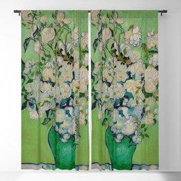 White Rose In A Vase Vincent van Gogh 1890 Oil on Canvas Still Life With Floral Arrangement Blackout Curtain