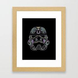Day of the dead Storm Trooper head Framed Art Print