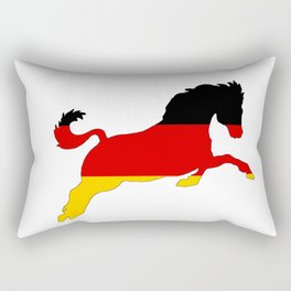 German Flag - Horse Rectangular Pillow