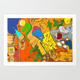 Enveloped Doodle Art Print