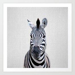 Zebra - Colorful Art Print
