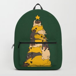 Christmas Tree Pugs Backpack