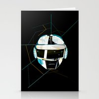 daft punk Stationery Cards featuring Daft Punk by Naje Anthony Hart
