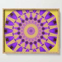 Bold Purple and Yellow Mandala Serving Tray