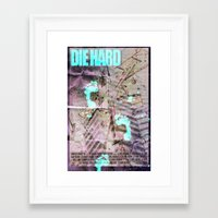 die hard Framed Art Prints featuring Die Hard by Strangeland Studios