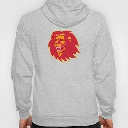 angry lion head roaring Hoody