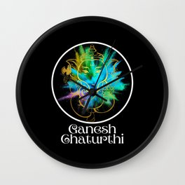 Ganesh Chaturthi Festival of Color Wall Clock