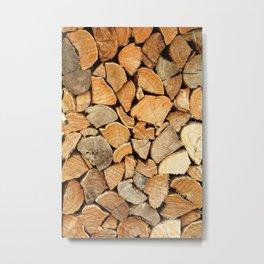 natural wood Metal Print