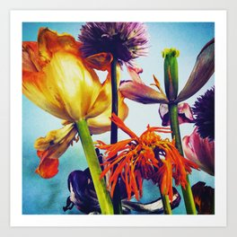The tulips Art Print