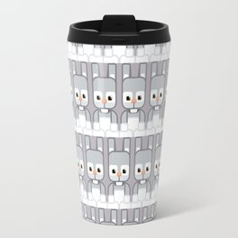 Silver Grey Bunny Rabbit - Super Cute Animals Travel Mug