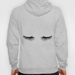 Black And White Lashes Hoody