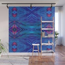Blue Flow Painting Kaleidoscope Mirror Wall Mural