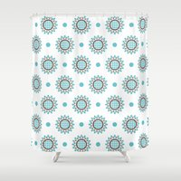 agnes Shower Curtains featuring Agnes by Ludivineem