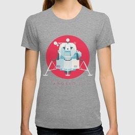 Apollo 11 Lunar Lander Module - Text Crimson T-shirt