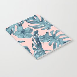 Island Life Teal on Light Pink Notebook