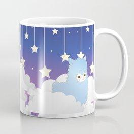 Night Sky Alpacas Coffee Mug