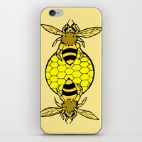 bees iPhone & iPod Skins featuring Bees by Chelsey Hamilton
