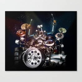 Drum Machine - The Band's Engine Canvas Print