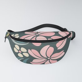 Pink Lilly vintage garden  Fanny Pack