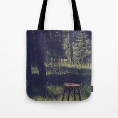 Sitting Elsewhere Tote Bag