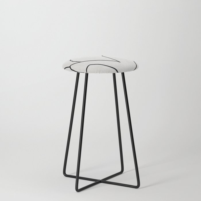 Abstract line art 2 Counter Stool