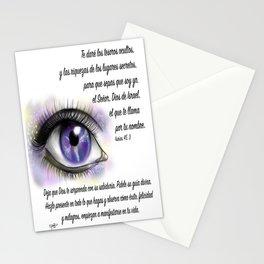 Ojo galaxia - Isaías 45, 3 Stationery Cards