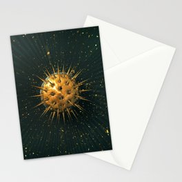 Abstract Dark Sphere Stationery Cards