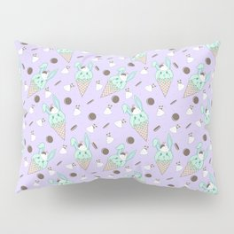 Minty Melty Bunnies Pillow Sham