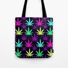 Colorful Marijuna Weed Tote Bag