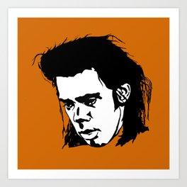 Sad Nick Cave Art Print