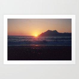 Crash into me - Romantic Sunset @ Beach #1 #art #society6 Art Print