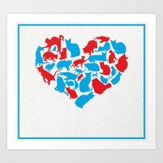 Heart of Kats Art Print