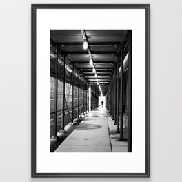 Walking Through Framed Art Print