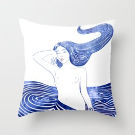 Water Nymph XLV Throw Pillow