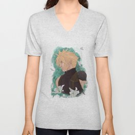 Cloud Strife, May, Lilies Unisex V-Neck