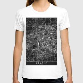 Prague Black Map T-shirt