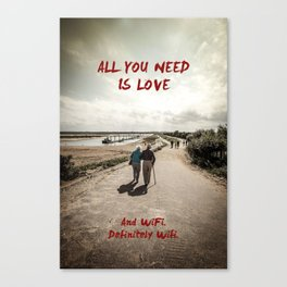 all you need is wifi Canvas Print