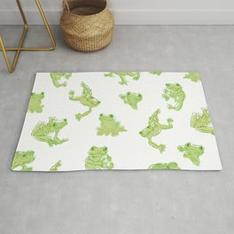 Froggy Frog large green Rug
