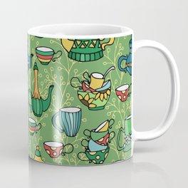 Tea green pattern Coffee Mug